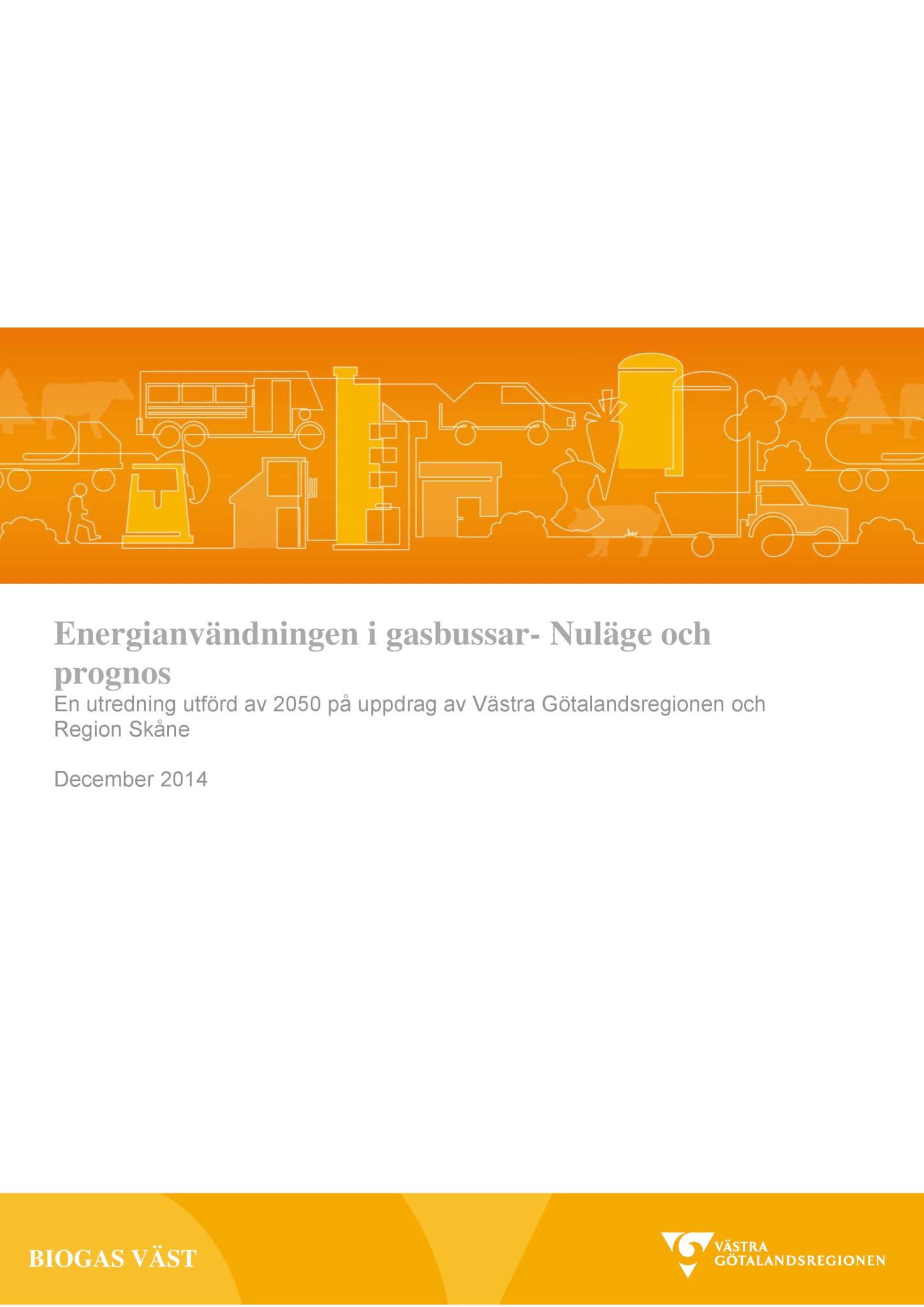 Energianvändningen i gasbussar- Nuläge och prognos