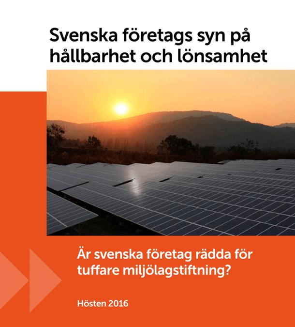 Svenska företags syn på hållbarhet och lönsamhet