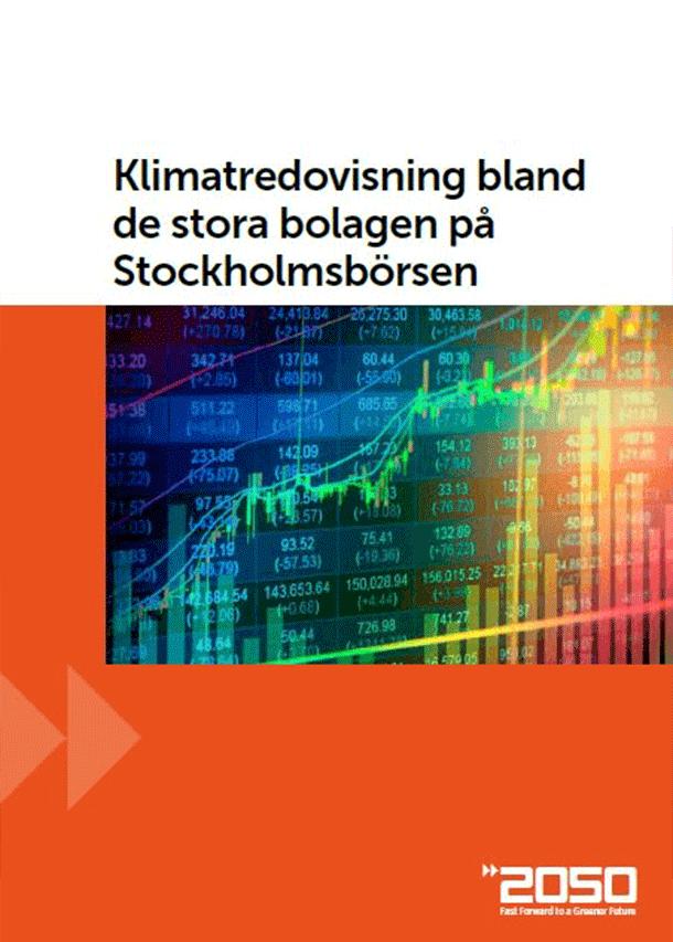 Klimatredovisning bland de stora bolagen på Stockholmsbörsen